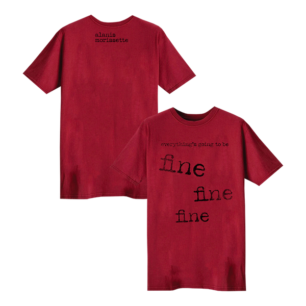 Red Fine Typewriter Tee