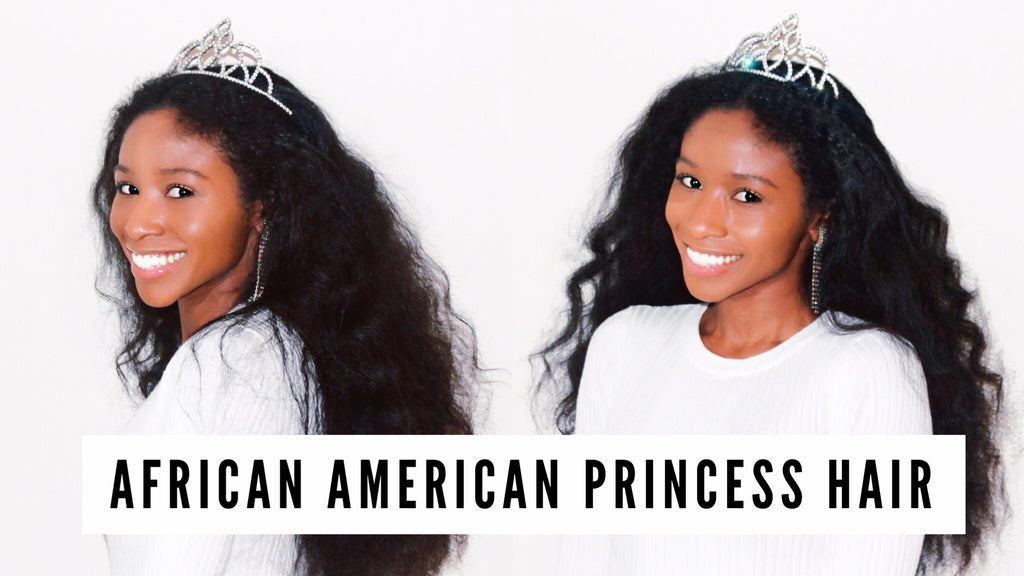 👑 How To: BIG, Flowy, African-American 👸🏾 Princess Hair!