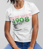 Alpha Kappa Alpha Skee Wee 1908 Founding Year T-Shirt - historically black apparel, hbcu,greek,black college,black athletes,black history,divine nine