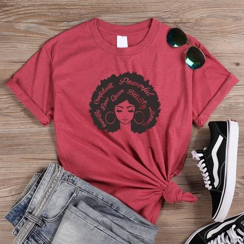 Beautiful Afro Lady Graphic T Shirts - historically black apparel, hbcu,greek,black college,black athletes,black history,divine nine