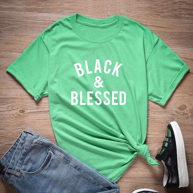 Black And Blessed T Shirt - historically black apparel, hbcu,greek,black college,black athletes,black history,divine nine