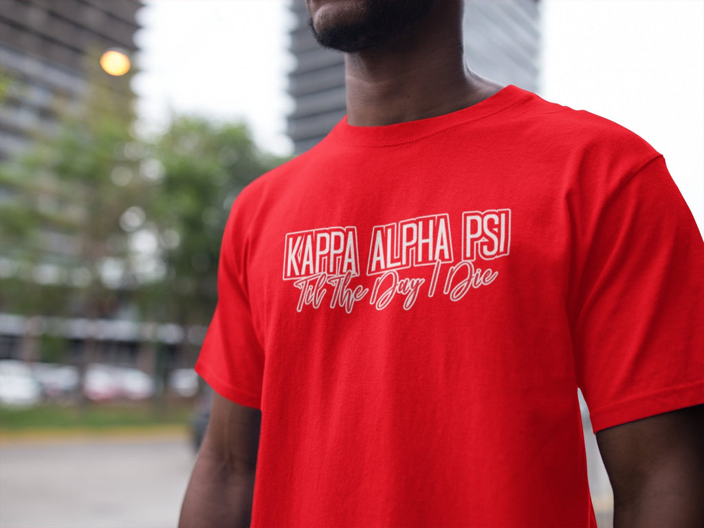Kappa Alpha Psi Til The Day T-Shirt - historically black apparel, hbcu,greek,black college,black athletes,black history,divine nine