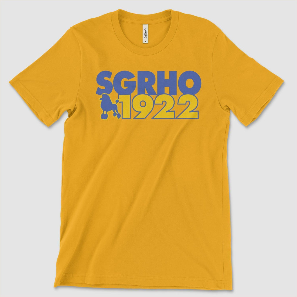 Sigma Gamma Rho 1922 Founding Year T-Shirt - historically black apparel, hbcu,greek,black college,black athletes,black history,divine nine