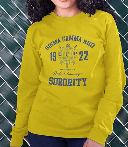Sigma Gamma Rho Roots Long Sleeve T-Shirt - historically black apparel, hbcu,greek,black college,black athletes,black history,divine nine