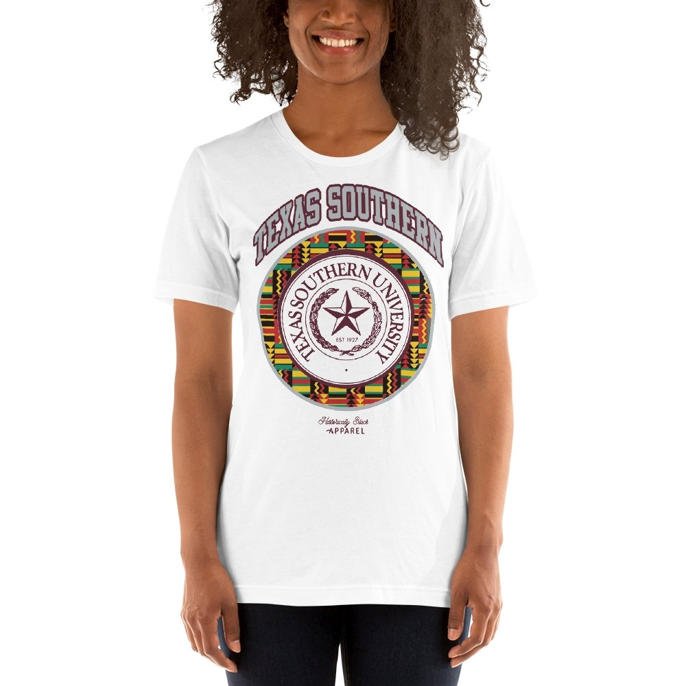 Texas Southern University Kente T-Shirt - historically black apparel, hbcu,greek,black college,black athletes,black history,divine nine