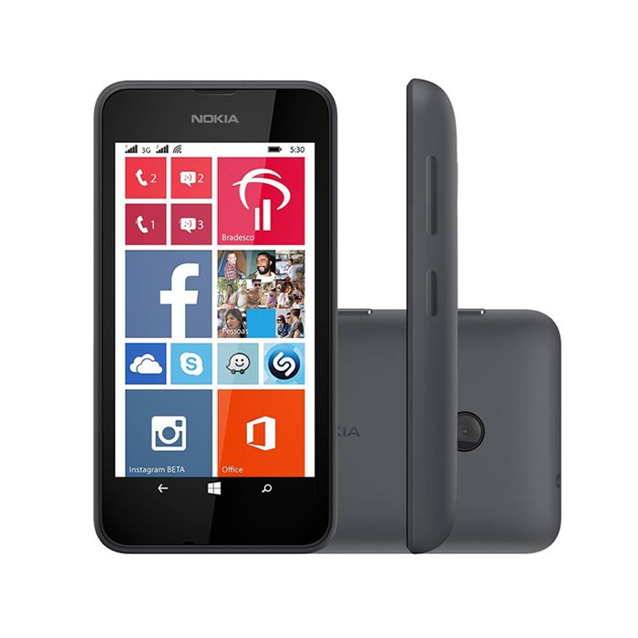 New Condition Nokia Lumia 530 - Grey (Unlocked) Smartphone + 12 Months WARRANTY