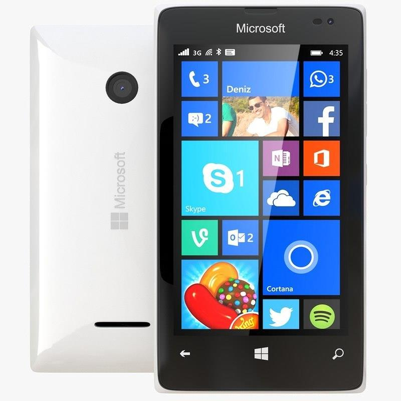 Excellent Condition Microsoft Lumia 435 White Dual Sim Unlocked Smartphone