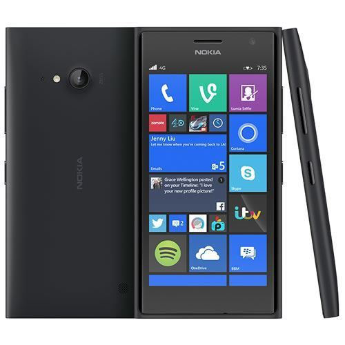 Excellent Condition Nokia Lumia 735 Dark Grey Windows Unlocked Smartphone