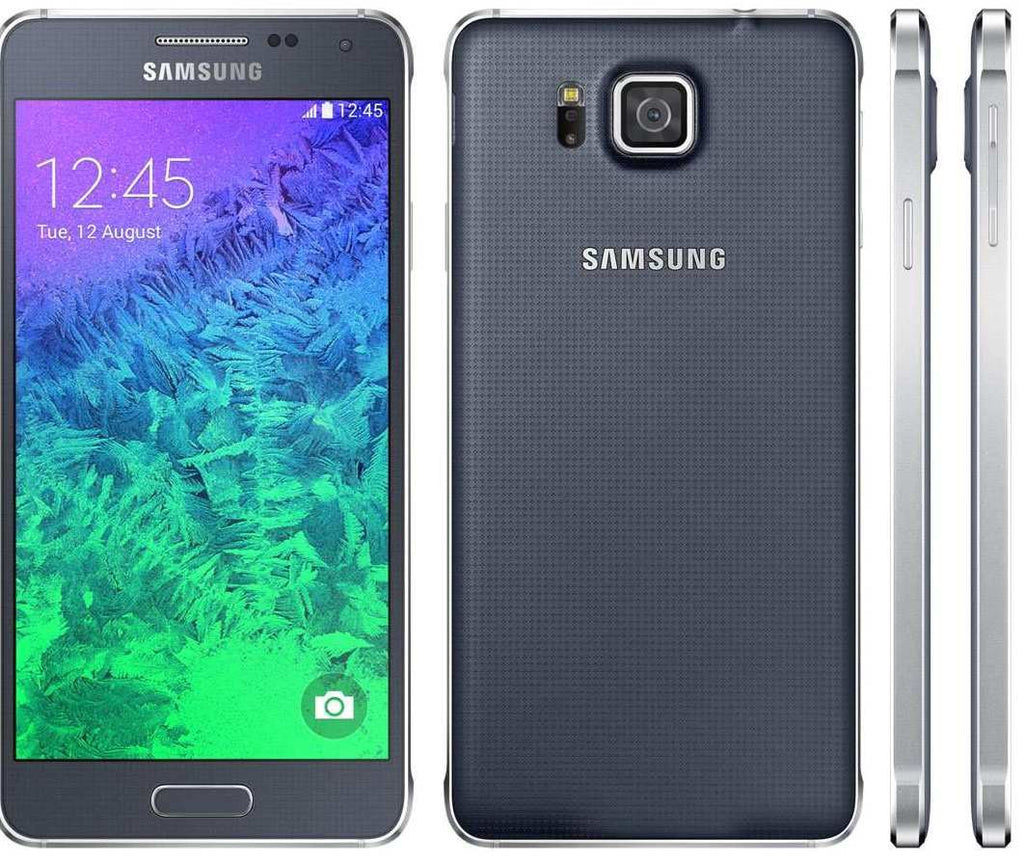 Samsung Galaxy Alpha 32GB Unlocked Charcoal Black Grade B Marginal VAT