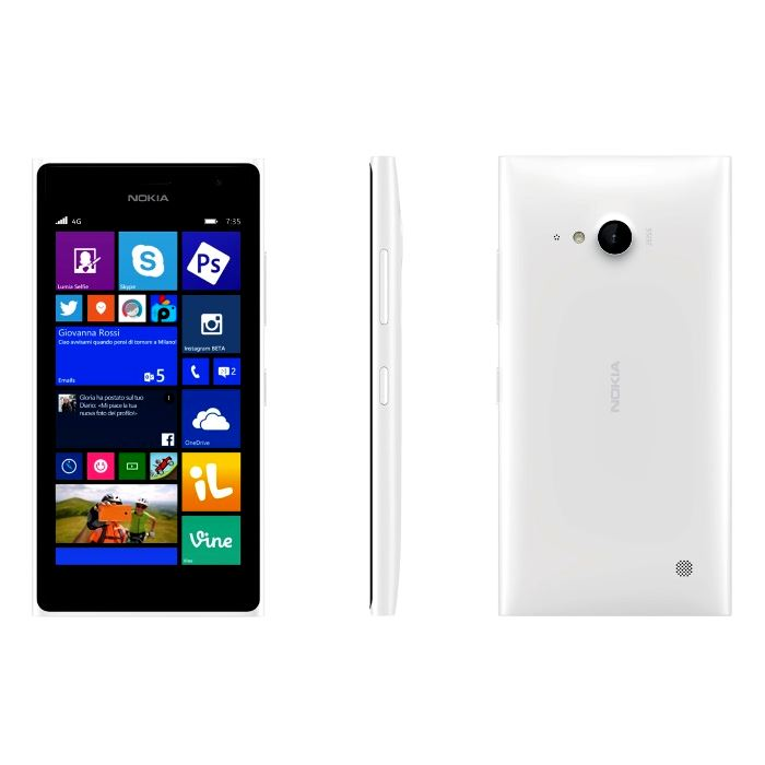Nokia Lumia 735 8GB Unlocked Smartphone White Excellent Condition - Warranty