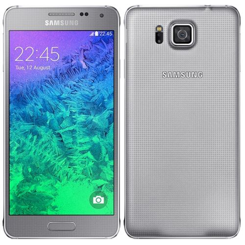 Samsung Galaxy Alpha 32GB Unlocked Sleek Silver Grade A Standard VAT