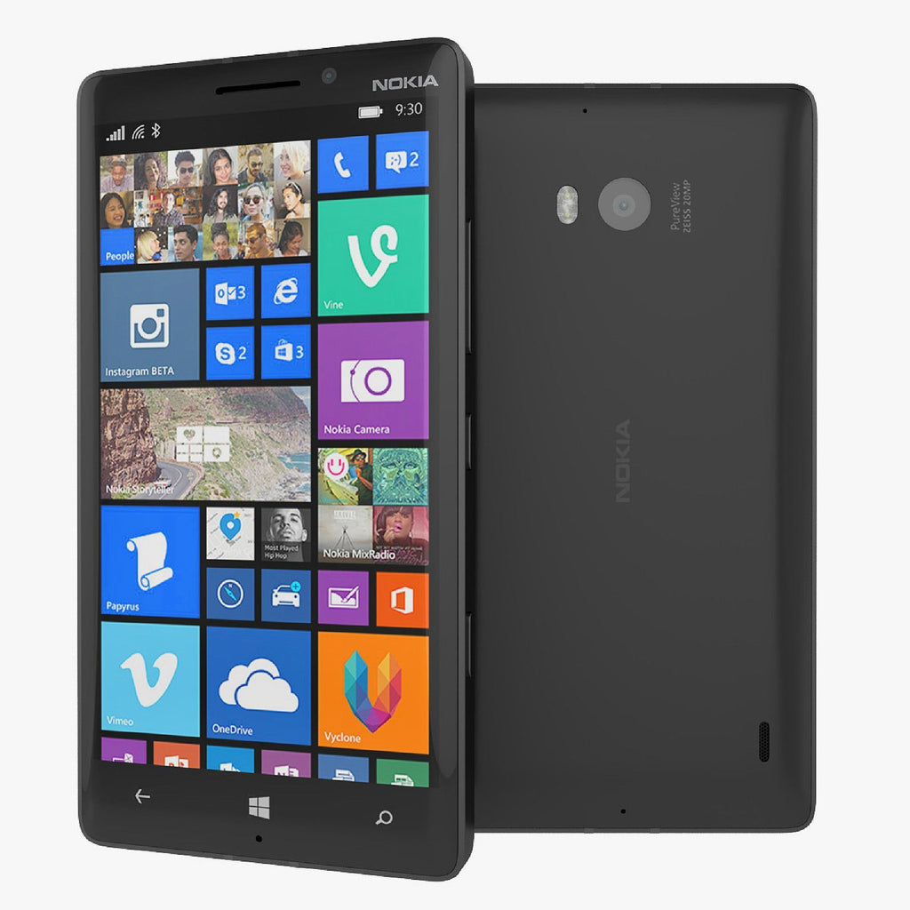 New Condition Nokia Lumia 930 Black 32GB Unlocked Windows Smartphone Warranty