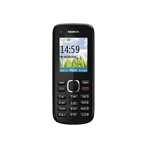 Nokia C1-02 Black Grey Camera Bluetooth Mobile Phone - Locked to EE - Warranty