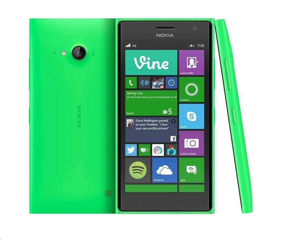 Excellent Condition Nokia Lumia 735 Green Unlocked Windows Smartphone - Grade A