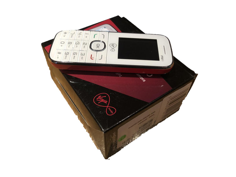 New Condition Boxed Alcatel VM585 1046G White Unlocked Mobile Phone - BATTERY NOT INCLUDED