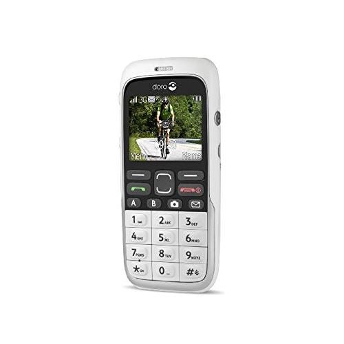 Doro 520X Black Brown White Elderly Mobile Phone W/ Emergency Button - Warranty