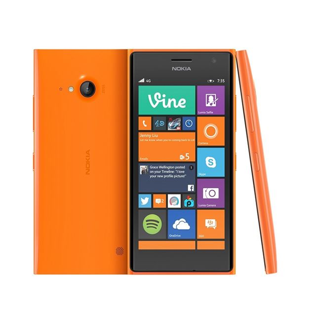 Good Condition Nokia Lumia 735 Orange Unlocked Windows Smartphone - Warranty
