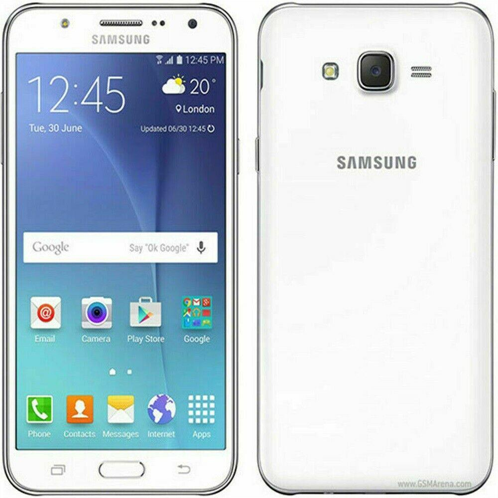 New Condition Samsung Galaxy J7 16GB J700F White Unlocked Smartphone - Warranty