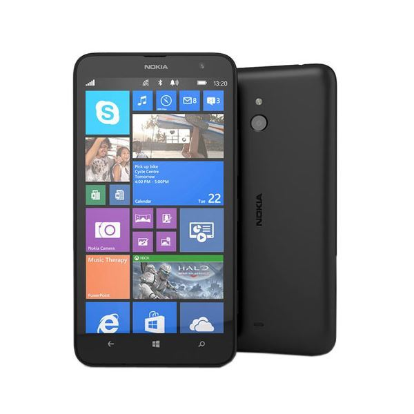New Condition Nokia Lumia 1320 Black 8GB Windows Unlocked Smartphone - Warranty