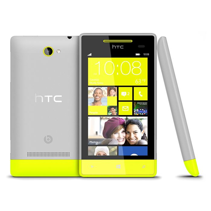 HTC 8S Black Lime Green Blue Red Grey White Windows 8 Smartphone - Warranty
