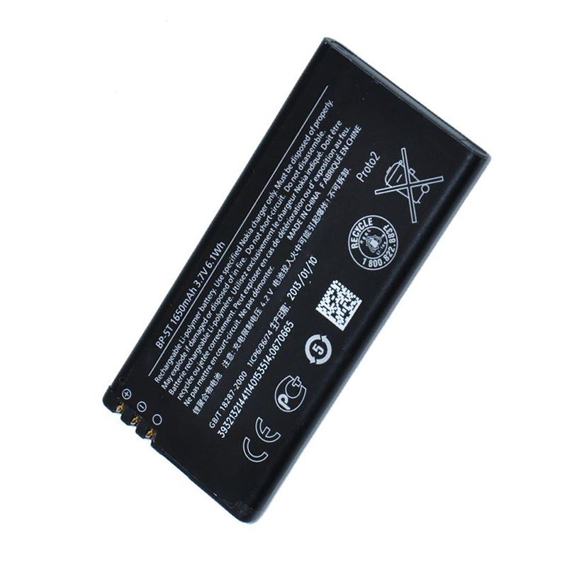 GENUINE BATTERY BP-5T FOR NOKIA / MICROSOFT LUMIA 820 ORIGINAL 1650 mAh