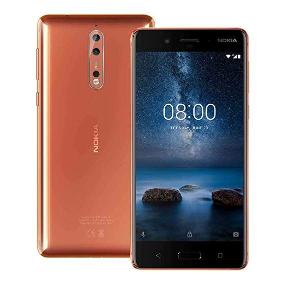 Nokia 8 64GB Polished Copper Unlocked Grade B - Standard VAT