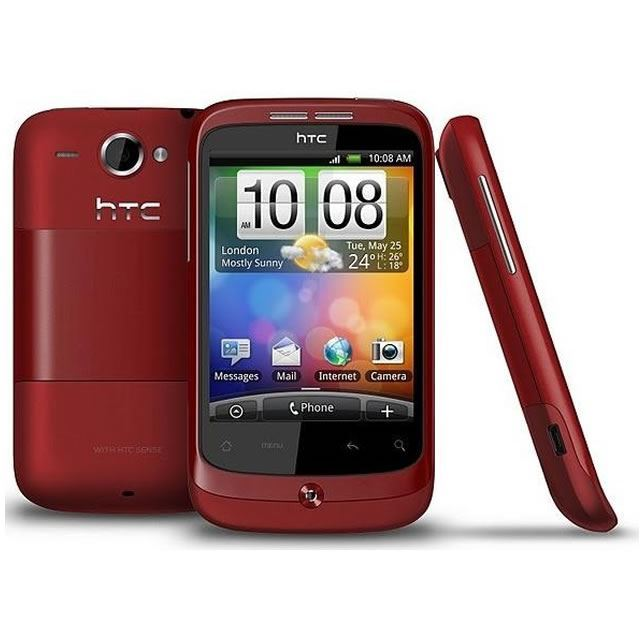 HTC Wildfire Red Unlocked Grade C - Standard VAT