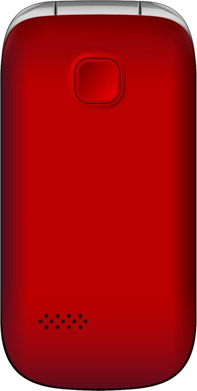 New Condition Boxed Bea-Fon SL590 Red Unlocked Big Button Mobile Phone