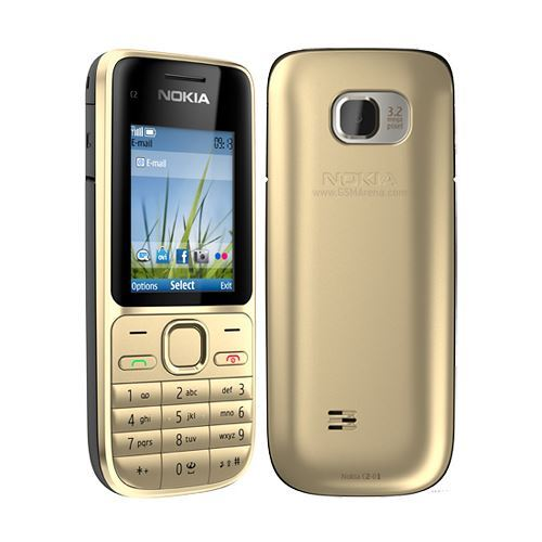 New Condition Nokia C2-01 - Gold (Unlocked) Mobile Phone Bar Phone - Warranty