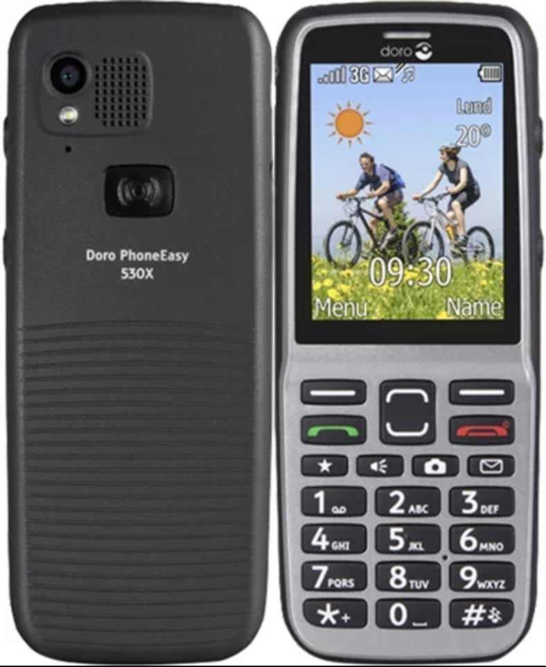 Doro PhoneEasy 530x Black Splash Proof Unlocked Loud Mobile Phone - 12M Warranty