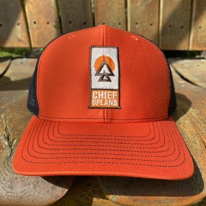 Premium Snapback Hat - Orange/Black