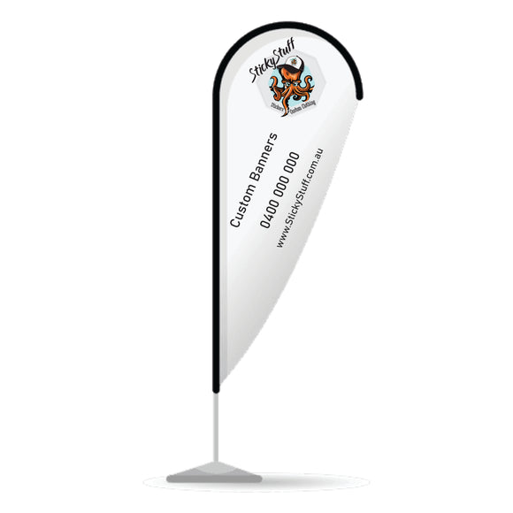 Advertising Tear Drop Banner