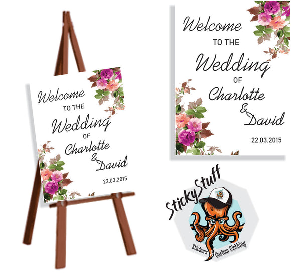 Wedding / Birthday Welcome Sign