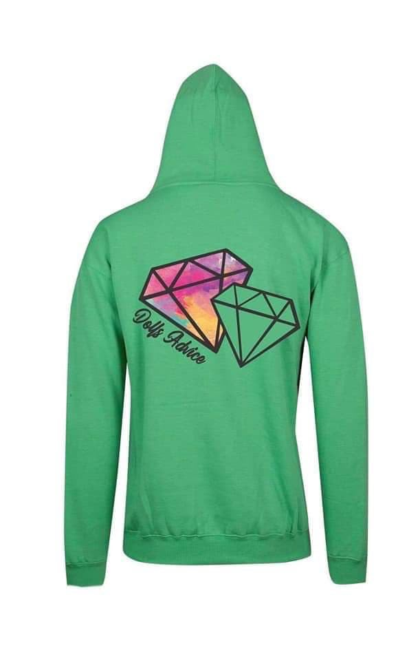 Dolls Diamond Hoodie GREEN