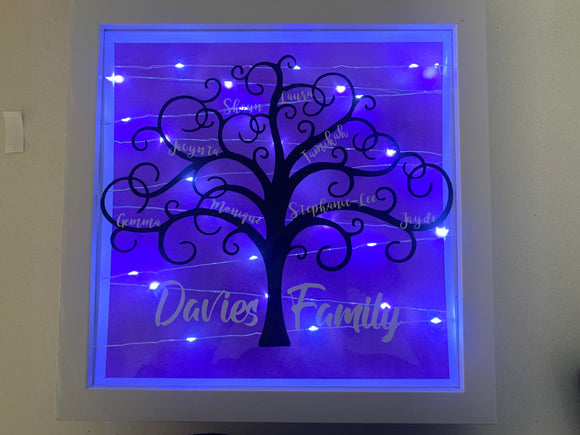 Family Tree Frame - fairy lights