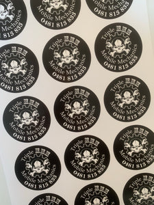 50 x 100mm sticker