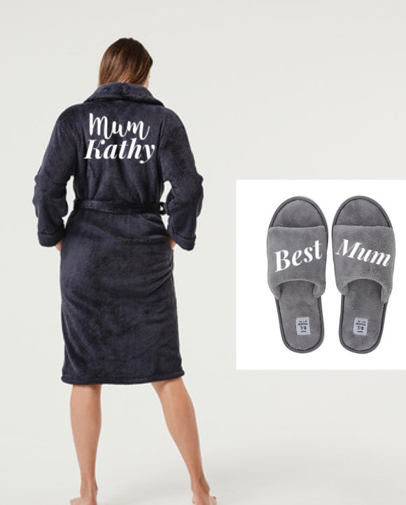 Personalised robe and slippers