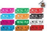 Metal Number Plates - Pack (2 Plates & 10 Stickers)