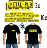 Metal Backed Number Plates and Merch