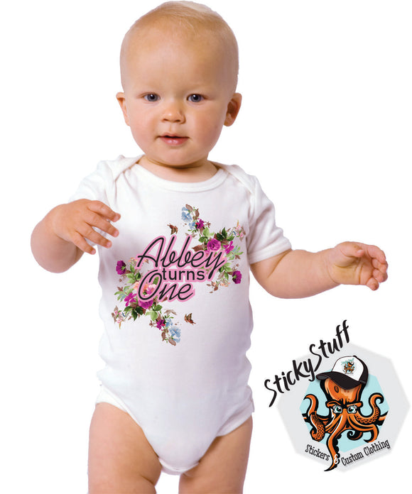 Personalised Birthday Onsie