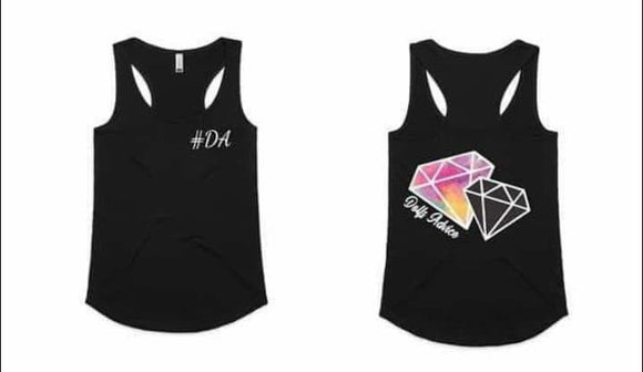 Dolls Diamond Singlet BLACK
