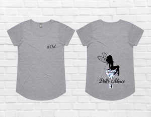 Dolls Fairy Shirt GREY - PLUS SIZE