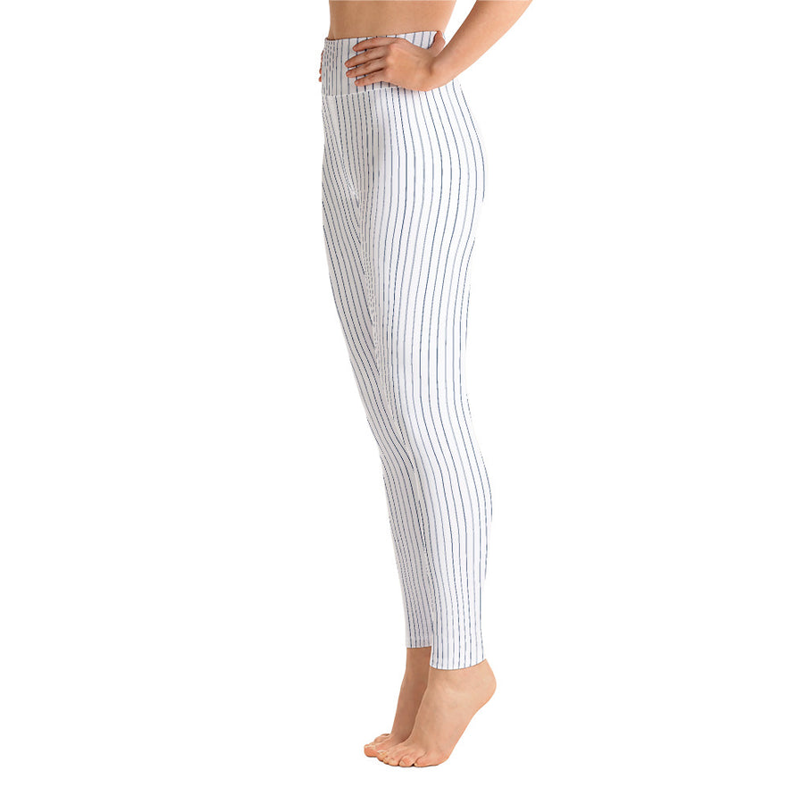 Pinstripe Blue Leggings