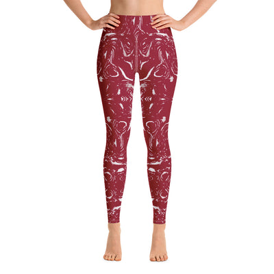 All Over Red Leggings - vinita sharma collections