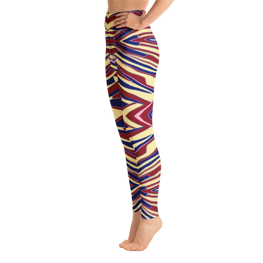 Abstract Stripes Leggings