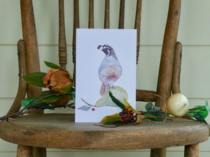 Partridge watercolour Christmas card