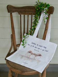 Three Little Wrens Tote Bag