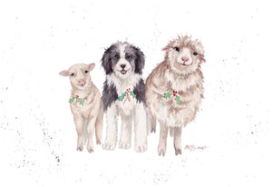 Tags' Trio Greeting Card