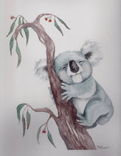 Load image into Gallery viewer, Koala watercolour painting