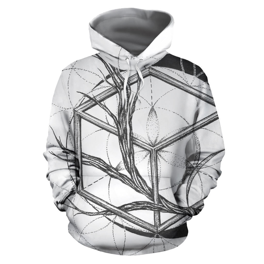Branch Out Hoodie Pulllover White